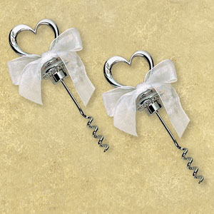 Heart Corkscrew Favor