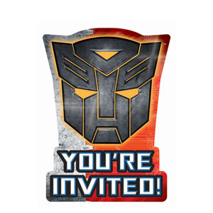 Transformers 3 Invitations- 8ct