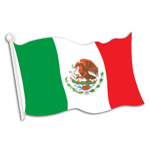 Mexican Flag Cutout- 18in