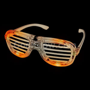 LED Slotted Shades - Orange