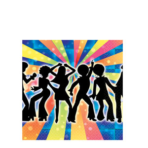 Disco Beverage Napkins- 16ct