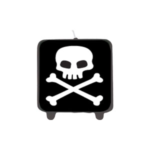 Pirate Printed Candle