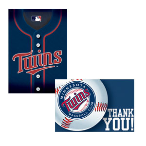 Minnesota Twins Invitations and Thank You Cards Set- 16ct