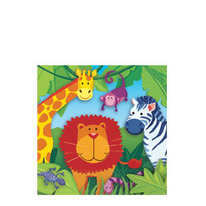 Jungle Animals Beverage Napkins- 16ct