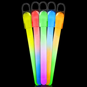 6 Inch Standard Glow Sticks Bi-Colors - Assorted