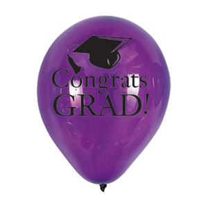 Purple Grad Latex Balloon