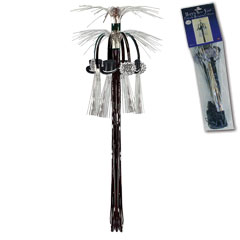 New Year Hanging Cascade Column - Silver