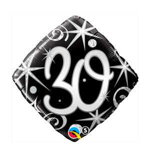30 Elegant Sparkles and Swirls Balloon- 18in