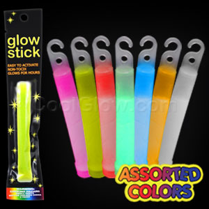 4 Inch Retail Packaged Glow Stick - Assorted