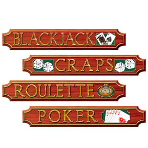 Casino Sign Cutouts- 4pc