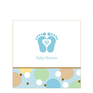 Tiny Toes Blue Luncheon Napkin
