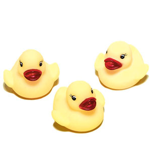 Rubber Ducky Baby Shower Favors - Yellow