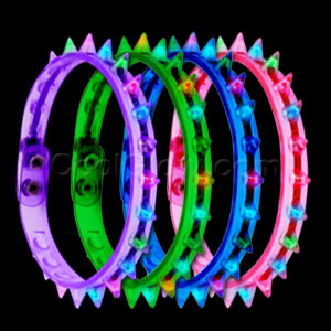 Fun Central O044 LED Light Up Spike Choker Necklace - Assorted