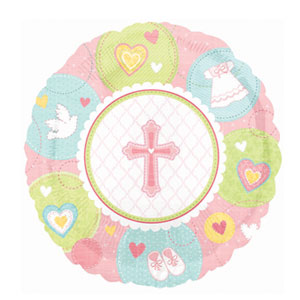 Sweet Christening Pink Balloon - 18 Inch