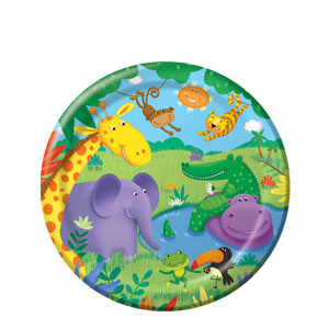 Jungle Buddies 9 Inch Dinner Plates- 8ct