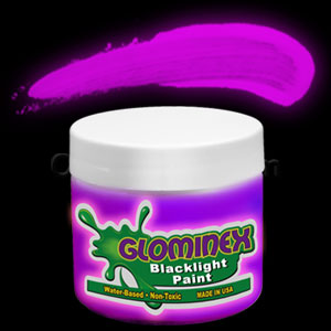 Glominex Blacklight UV Reactive Paint 4 oz Jar - Purple
