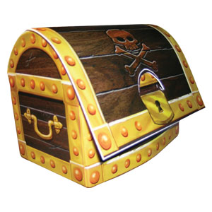 Pirate Treasure Chest Centerpiece - 1pc