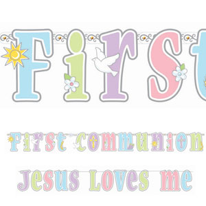 Communion Illustrated Letter Banner Combo Pack- 2ct