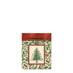 Wonderful Season Small Glitter Gift Bag- 5 Inch