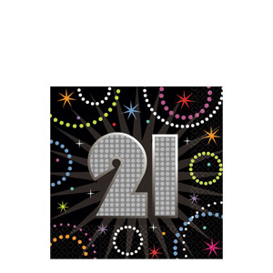 Time to Party 21 Beverage Napkins- 16ct
