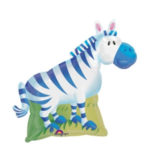 Jungle Party Zebra Balloon- 30in