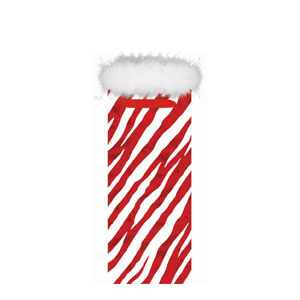Zebra Stripe Bottle Bag- 13 Inch