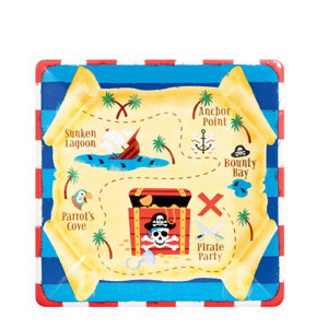 Pirate's Treasure 10 Inch Plates- 8ct
