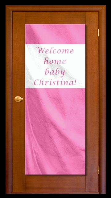 Pink - Custom Door Banner