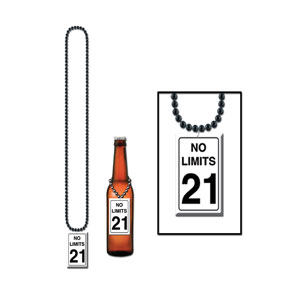 No Limits 21st Birthday Beads