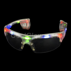 Fun Central AC235 LED Light Up Sporty Sunglasses - Multicolor