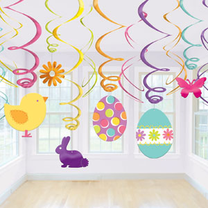 Easter Swirl Decorations