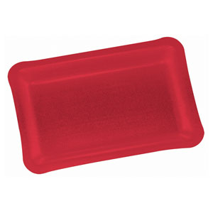 Holiday Shimmer Red Rectangular Tray- 15 Inch
