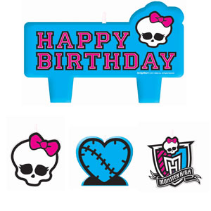 Monster High Mini Molded Cake Candles- 4pc