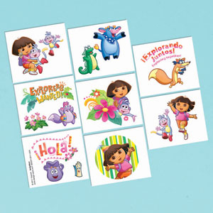 Dora Tattoo Favors- 16ct