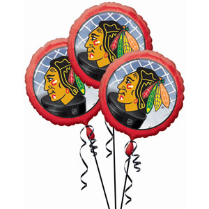 Chicago Blackhawks 3 Pack Balloons- 18in