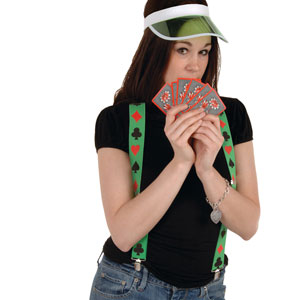 Casino Suspenders Card Suit