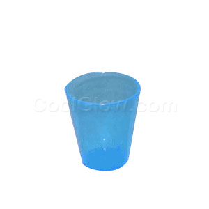 Neon Blue 2 Ounce Shot Glasses - 50 count
