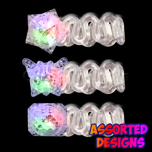 LED Expandable Bracelet - Clear