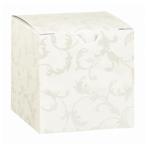 Embossed Cube Boxes - 24 Ct
