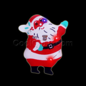 Flashing Jolly Santa Blinky