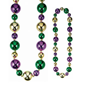 Mardi Gras Jumbo Necklace - 46 Inches