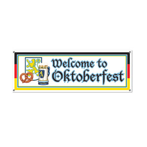Welcome to Oktoberfest Sign Banner - 5ft