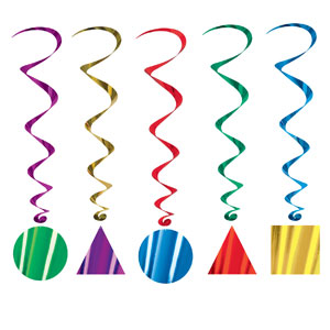 Party Shape Whirls - 5ct