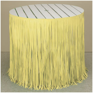 Yellow Fringe Tableskirt