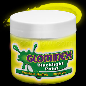 Glominex™ Blacklight UV Reactive Paint Pint - Yellow