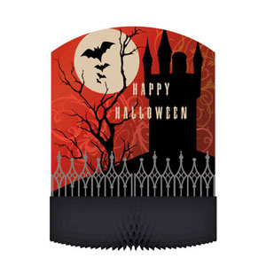 Frightful Night Honeycomb Centerpiece- 12in