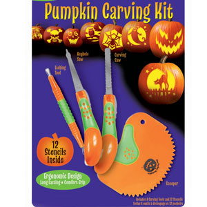 Deluxe Pumpkin Carving Kit- 4pc