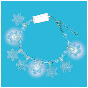 Light Up Snowflake Bracelet- 7 Inch