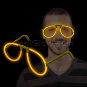 Fun Central P81 Glow in the Dark Eye Glasses - Orange