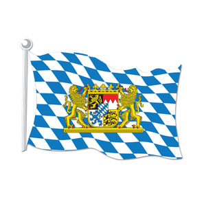 Bavarian Flag Cutout - 18in